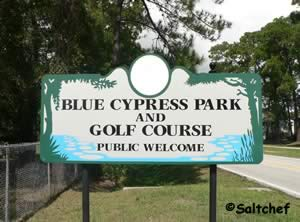 entrance to blue cypress park and fishing pier