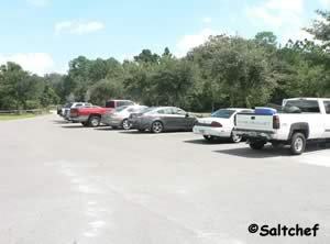 parking for about 10 cars at blue cypress park pier
