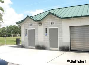 restrooms are up near the front of the park