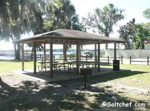 picnic pavilion at doctors inlet fishing pier Fleming Island florida