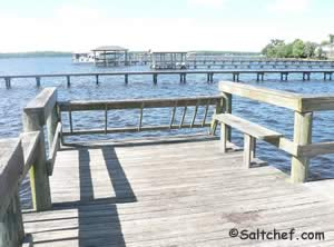 pier on doctors inlet