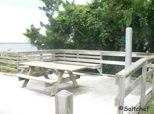 picnic table at north end of george crady