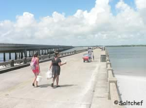 walking along george crady fishing pier