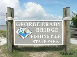 sign at george crady fishing bridge