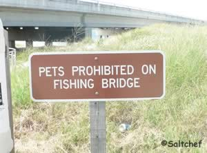 no pets on the george crady fishing pier