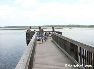 fishing pier marshes east of pupkin hill state park