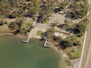 bayou texar boat ramp aerial view