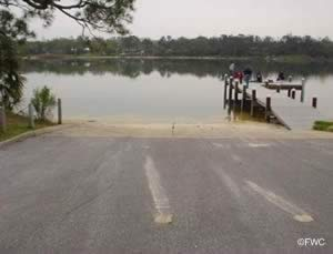 bayview park boat ramp on bayou texar pensacola florida