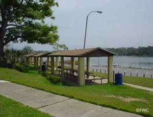 picnic pavilions at bayview park and boat ramp pensacola florida escambia county