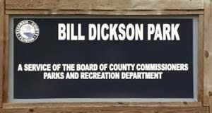 bill dickson park sign