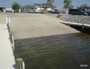 saltwater boat ramp in bayou chico pensacola florida