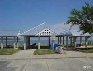 picnic pavilions at wayside / 17th street park pensacola