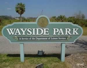 wayside park sign