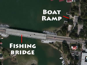 bridge fishing at bayou texar pensacola florida