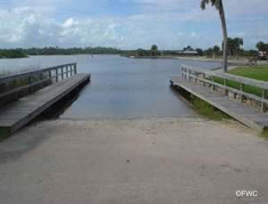 boat ramp at gamble rogers memorial state park flagler county fl