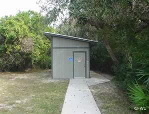 restrooms near the gamble rogers saltwater boat ramp