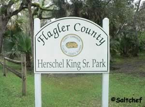 entrance sign at herschel king park