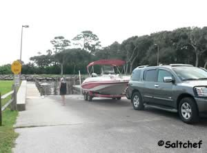 boat ramp at herschel king park near palm coast florida