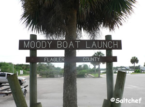 entrance to moody boat launch