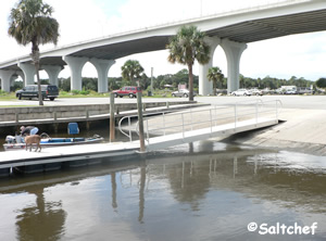 boat ramp at moody near palm coast florida