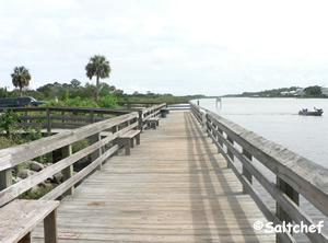 fishing dock at moody boat launch near flagler beach