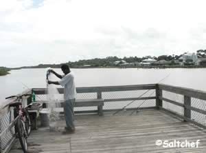 fishing pier at intercoastal waterway at betty steflik