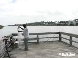 fishing pier at Intracoastal waterway at betty steflik