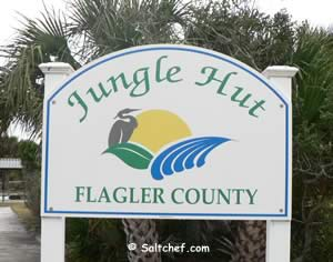 jungle hut beach park entrance flagler county florida