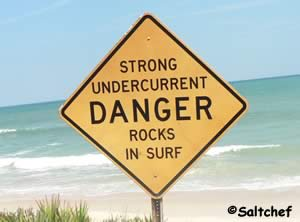 watch for strong curents at malacompra beach park