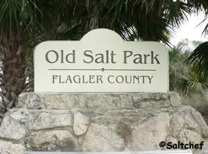 entrance to old salt park near palm coast florida