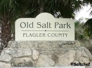 entrance to old salt park near palm coast florida