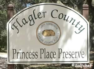 entrance sign at princess place preserve