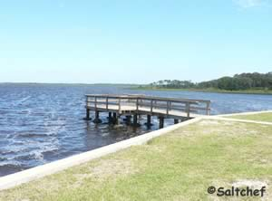 small fishing dock at princess place preserve