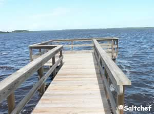 fishing docks near bridge at princess place preserve