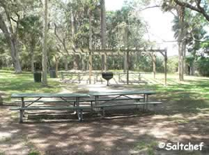 picnic area at princess place preserve