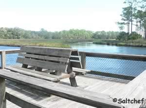 fishing docks on style creek near bridge