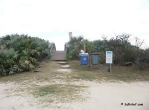 walkover to beach and surf fishing at varn park flagler fl