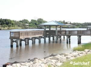pier at waterfront park palm coast florida