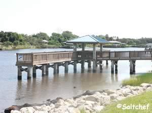 pier at waterfront park palm coast florida