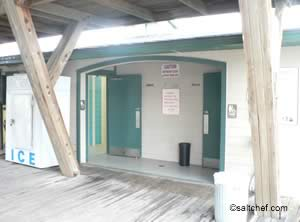 restrooms at flagler beach ocean pier