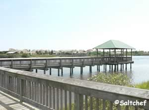 nice icw pier at herschel king park palm coast florida