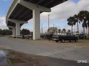 parking at battery park boat ramp in apalachicola florida 32320