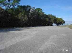 parking at the ochlockonee bay bridge boat ramp