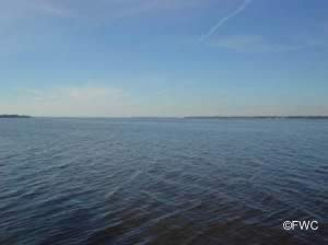 scenic view of ochlockonee bay from bridge boat ramp