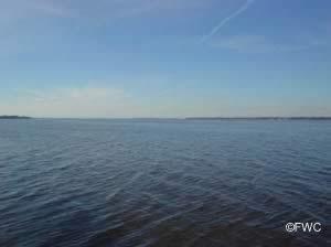scenic view of ochlockonee bay from bridge boat ramp
