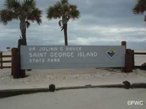 st george island state park sign franklin county florida