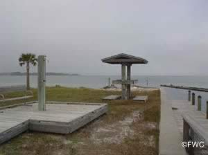 showers and fish cleaning station at st joseph peninsula state park