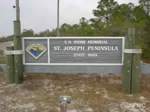 st joseph peninsula state park sign
