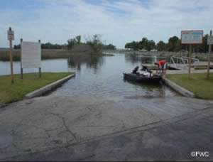saltwater boatramp with easy gulf of mexico fishing access