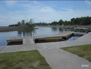 docks at the bayport saltwater boat ramp in spring hill fl